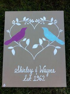 Wedding Canvas Art Signs