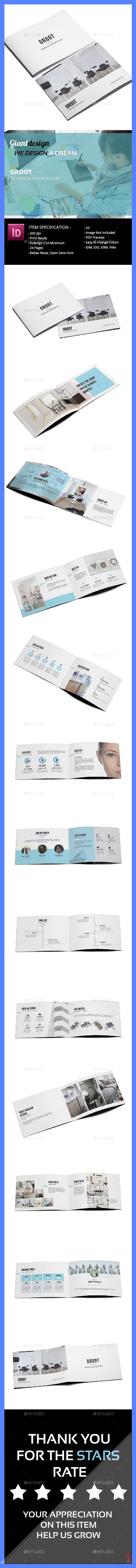 Groot Interior Design A5 Brochure set DesignCollection TemplateDesign PrintDesign GraphicRiver Print...