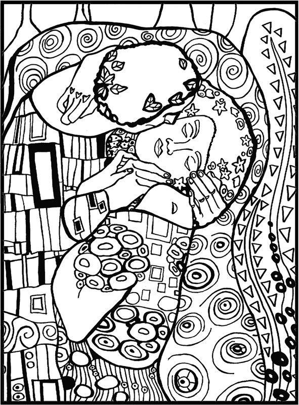 KLIMT-EL BESO | S e R i G r A f I a | Pinterest | Klimt, El beso y Besos