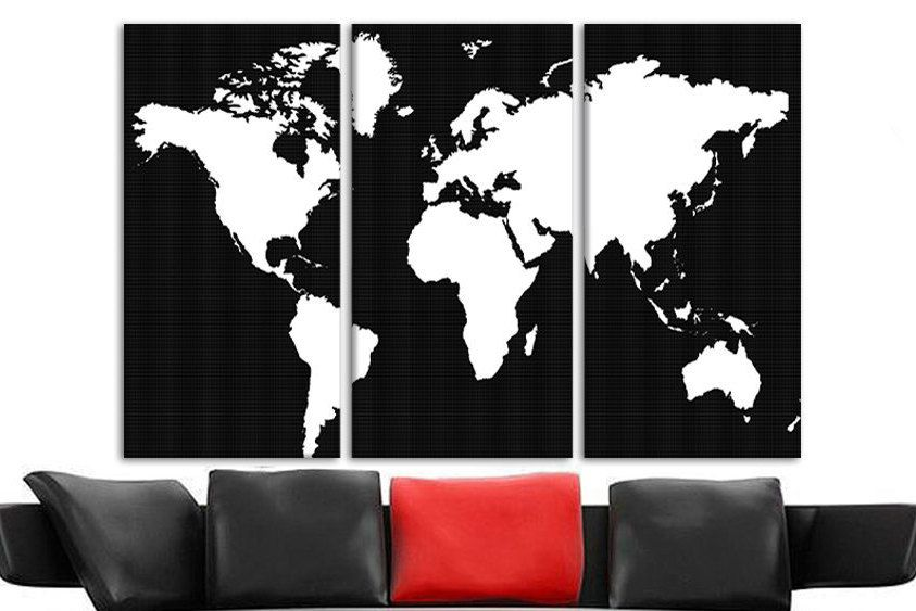 Large wooden world map framed map of world world maps to hang on large wooden world map framed map of world world maps to hang on wall large personalized canvas print world map split canvas panel map art gumiabroncs Choice Image