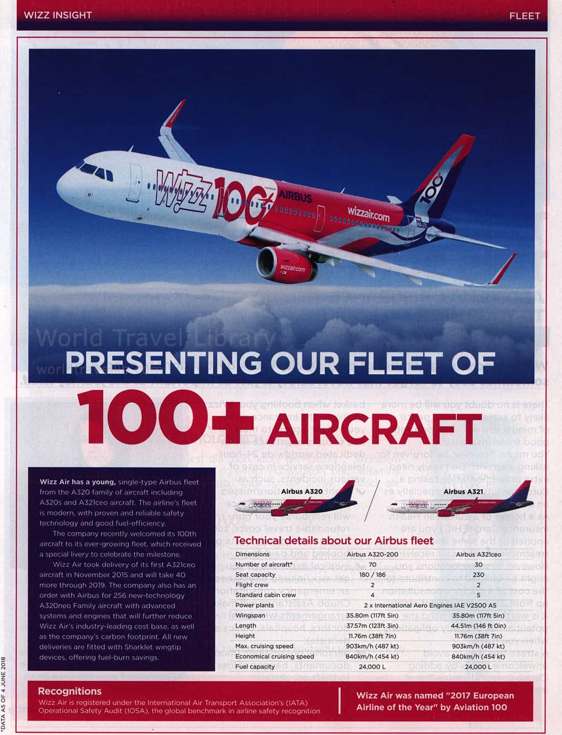 Wizzair Wizz Inflight Magazine June July 2018 A321 Special Livery 100th Airbus For Wizz In 2020 Travel Presents Fleet Airlines