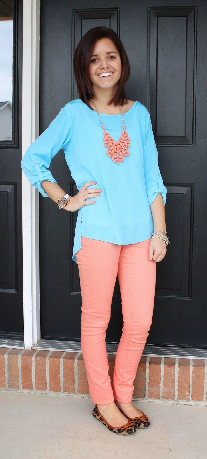 Classy In The Classroom Bright Colors Teacher Outfits