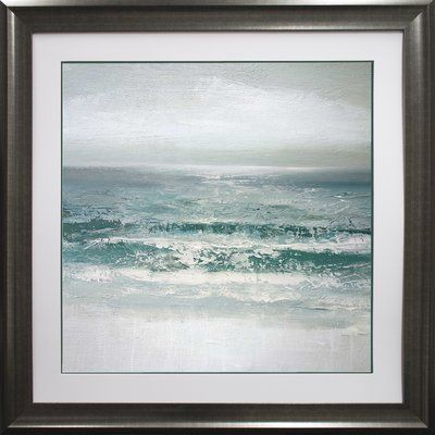 Star Creations \'Waves\' by Caroline Gold Framed Acrylic Painting ...