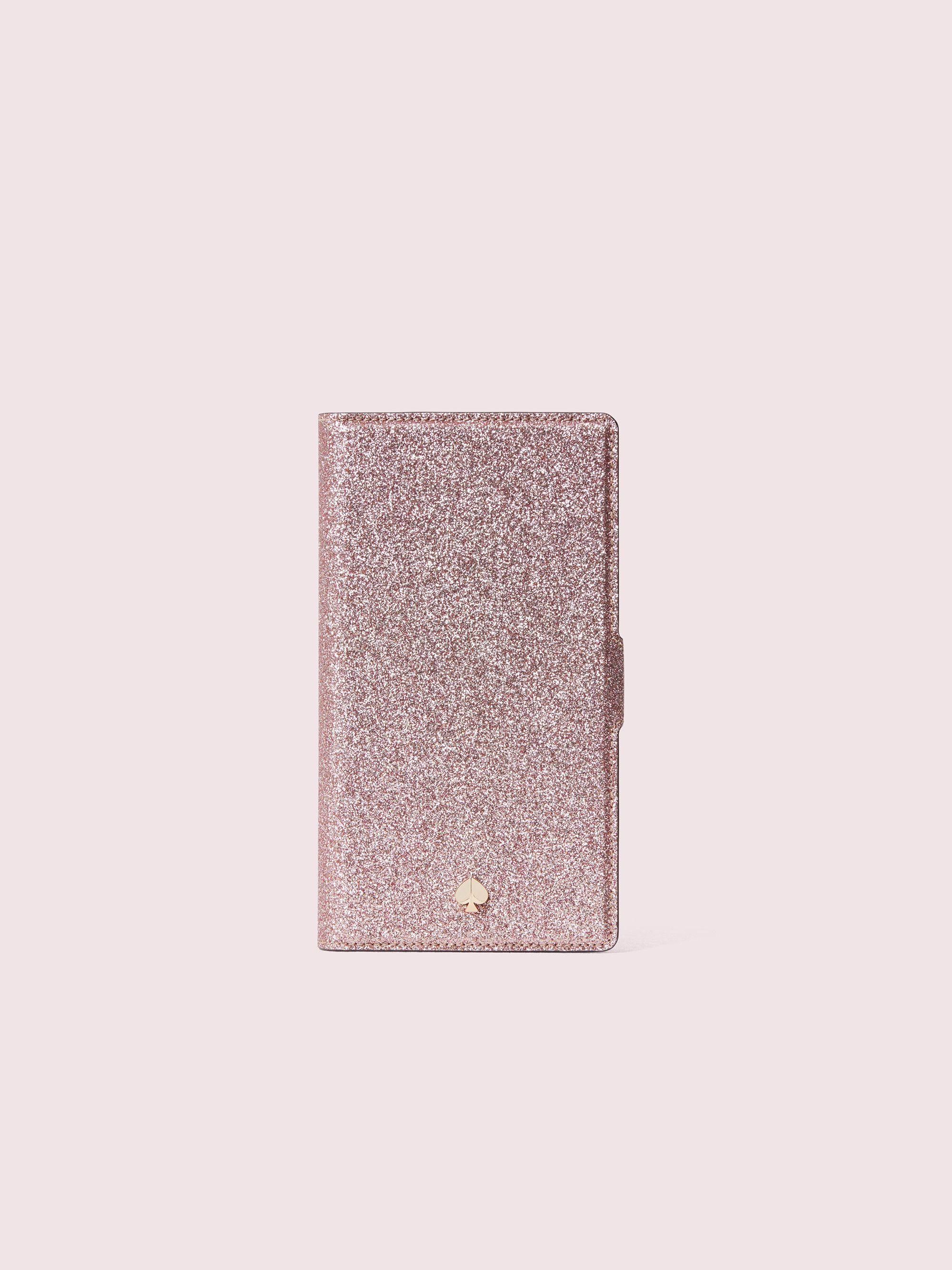 Burgess court glitter iphone xr wrap folio case