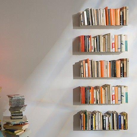 Monoqi U Shelf Set Of 2 White Wall Bookshelves Floating Bookshelves Invisible Shelves