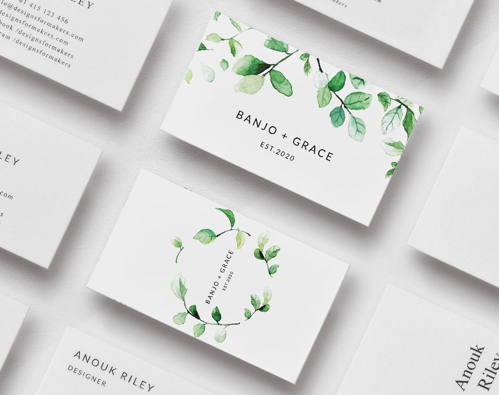 Business Cards Business Card Design Business Card Template Etsy Business Card Design Make Business Cards Business Card Pattern