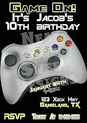 Printable Gaming Birthday Invitation Video Game Invitation - Video game birthday invitation template