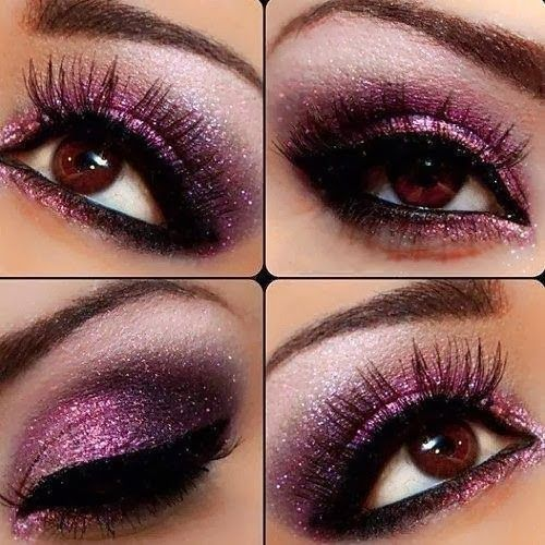 purple glitter eye makeup HOW TO CLICK ON THE PIC I LOVE THIS ONE ...