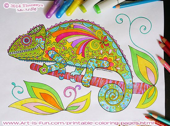 Coloring Pages That Look Like Real Animals : Groovy animals coloring pages doodles