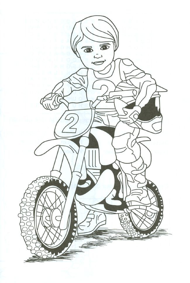 Girl Dirt Bike Coloring Page
