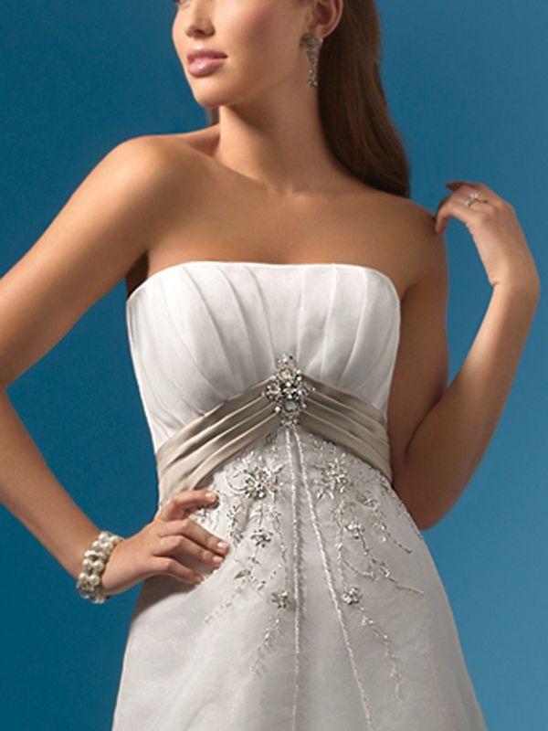 Splendid Strapless Beaded Gown for Bridal Event