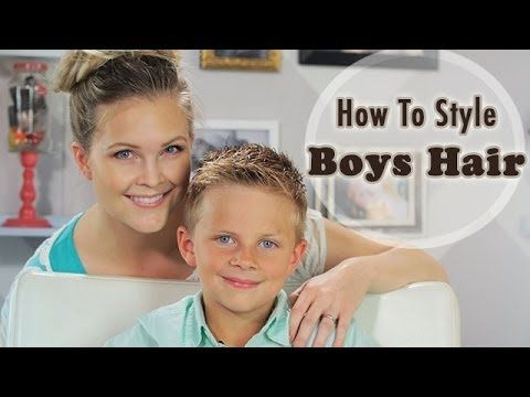 How To Style Boys Hair Youtube Boy Hairstyles Little Boy Hairstyles Baby Hair Gel