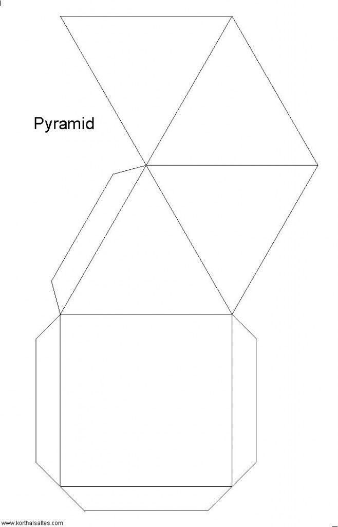 Recortables de figuras geomtricas  Pirmide  figuras