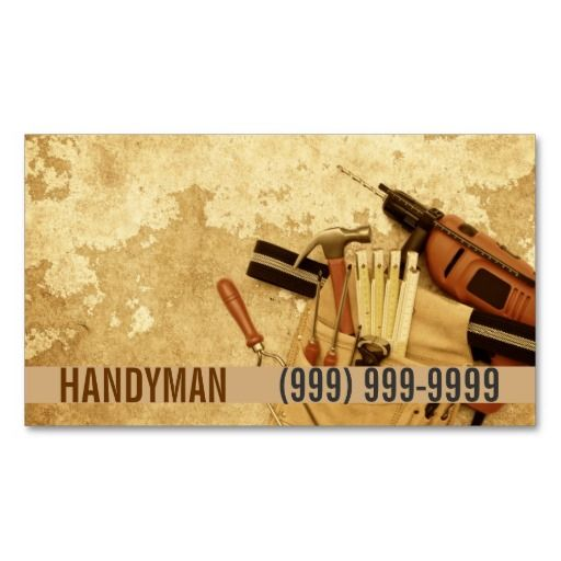 Maintenance Construction Handyman Business Card Deluxeforms - Handyman business card template