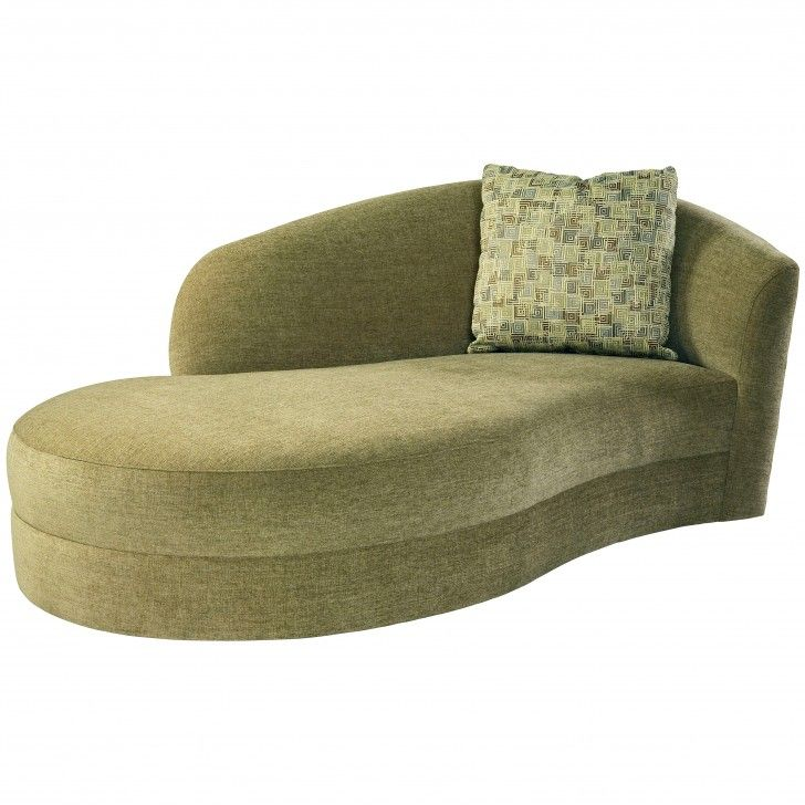 Living Room Fresh Green Chaise Lounge Sofa With Curved