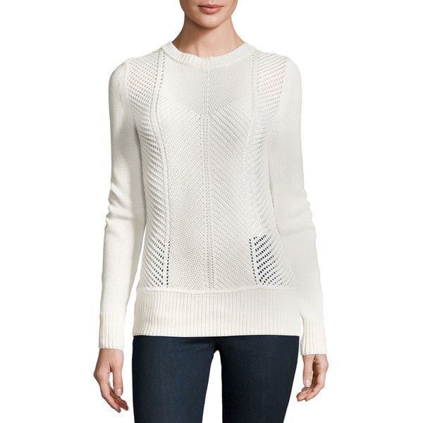 J Brand Sweetszer Silk-Cotton Sweater ($238) ❤ liked on Polyvore ...
