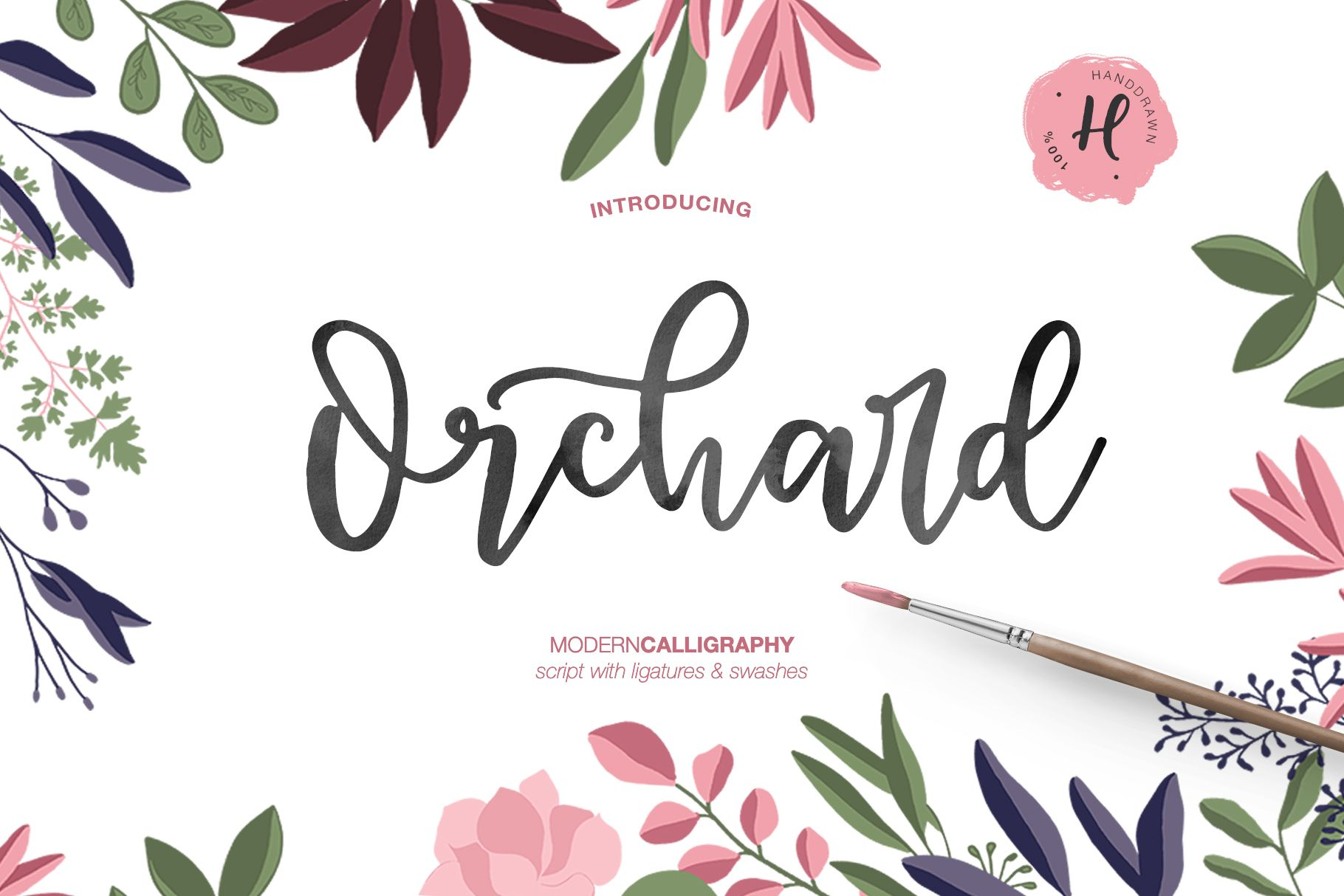 Orchard modern calligraphy Modern calligraphy, Fancy