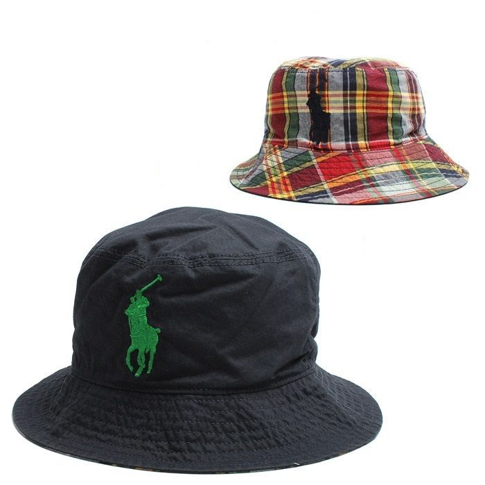 ad63344f337 Hats 163224  New Polo Ralph Lauren Reversible Boy Toddler Bucket Fishing Cap  Sun Hat 2T
