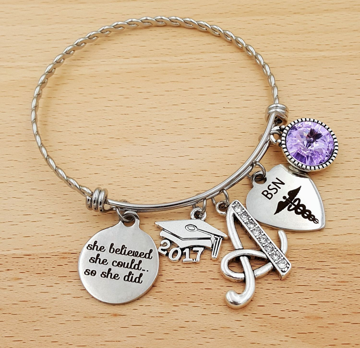 metal inspirational gift student bracelet chase message cuff products motivation your stude dreams graduation