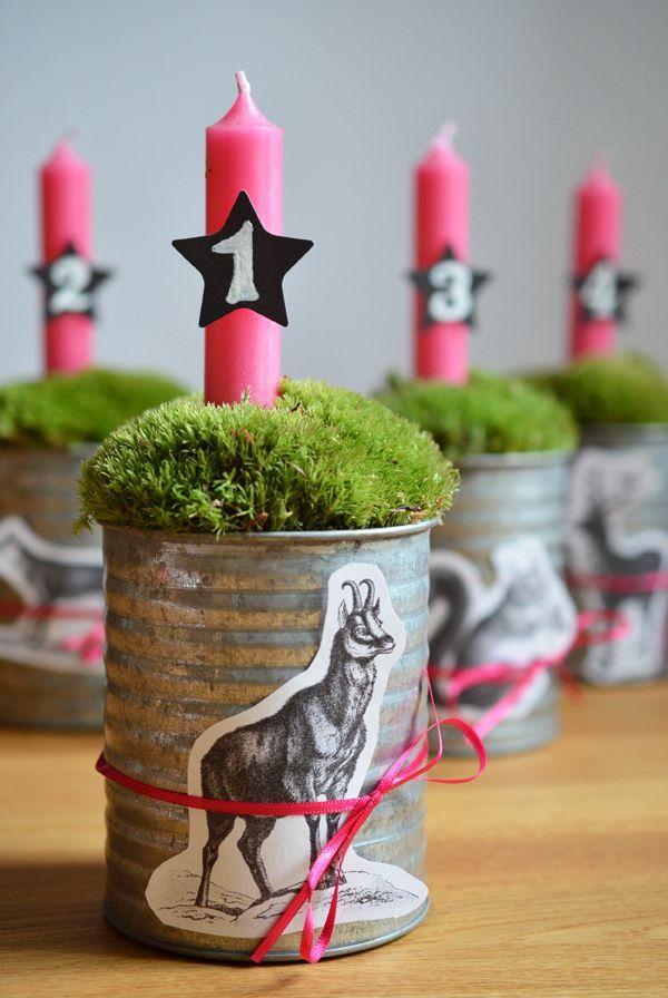 Adventskranz Modern Mit Pinken Kerzen Winter Plant Sale