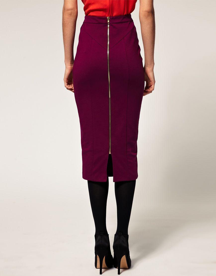 Купить юбку с молнией сзади во всю длину