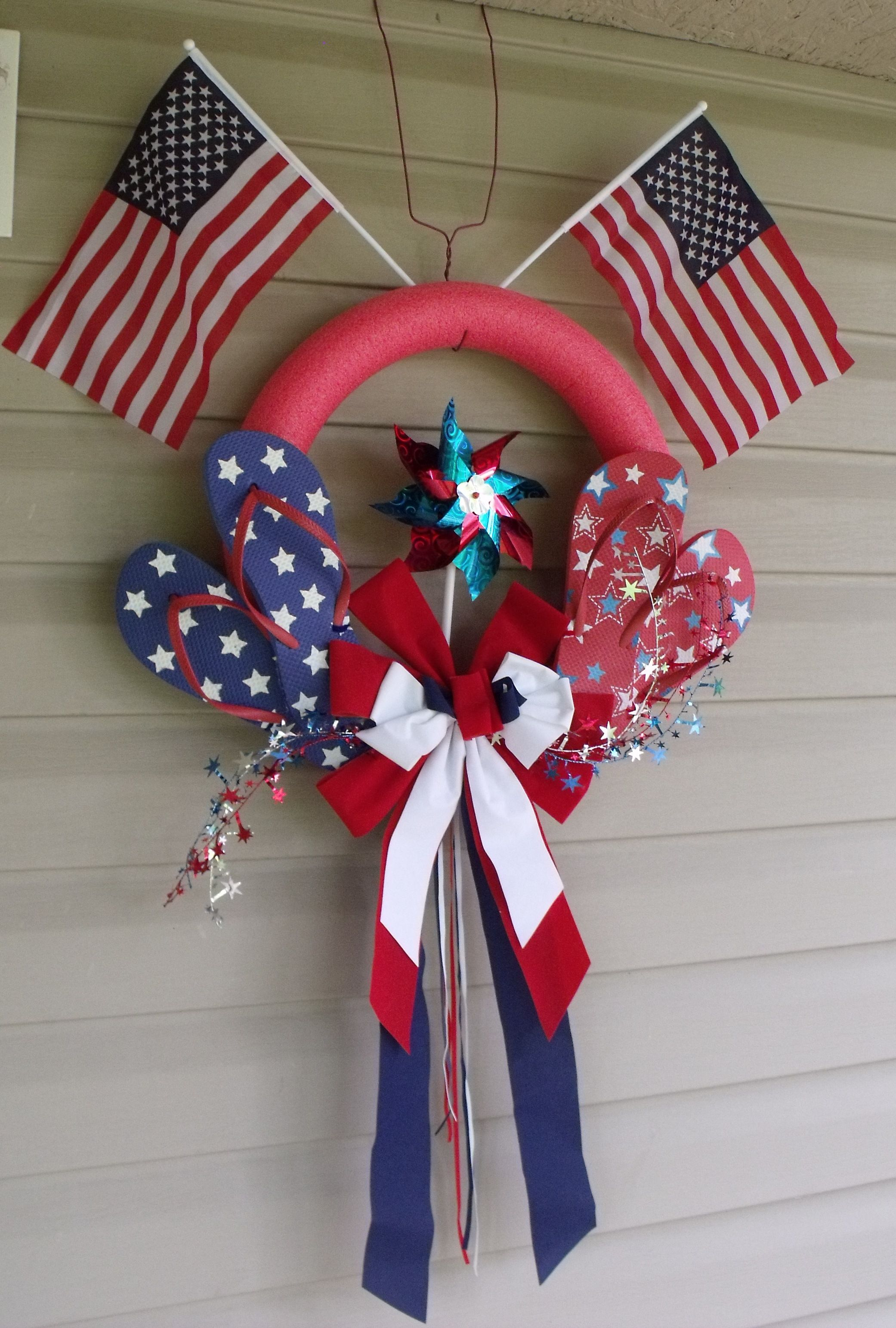 Happy 4th Of July Wreath I Made Once Again The Every
