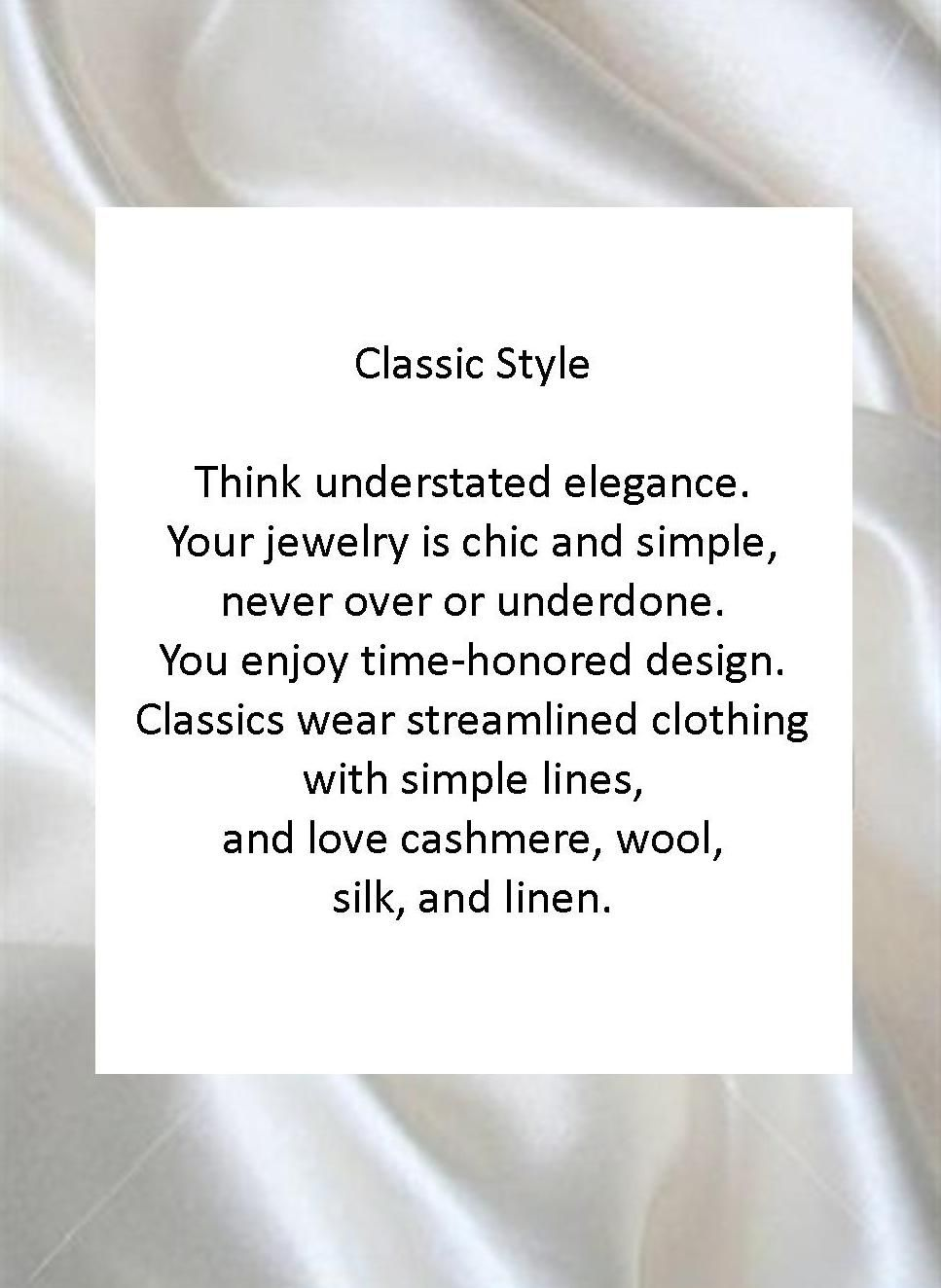 Classic Fashion Style Definition