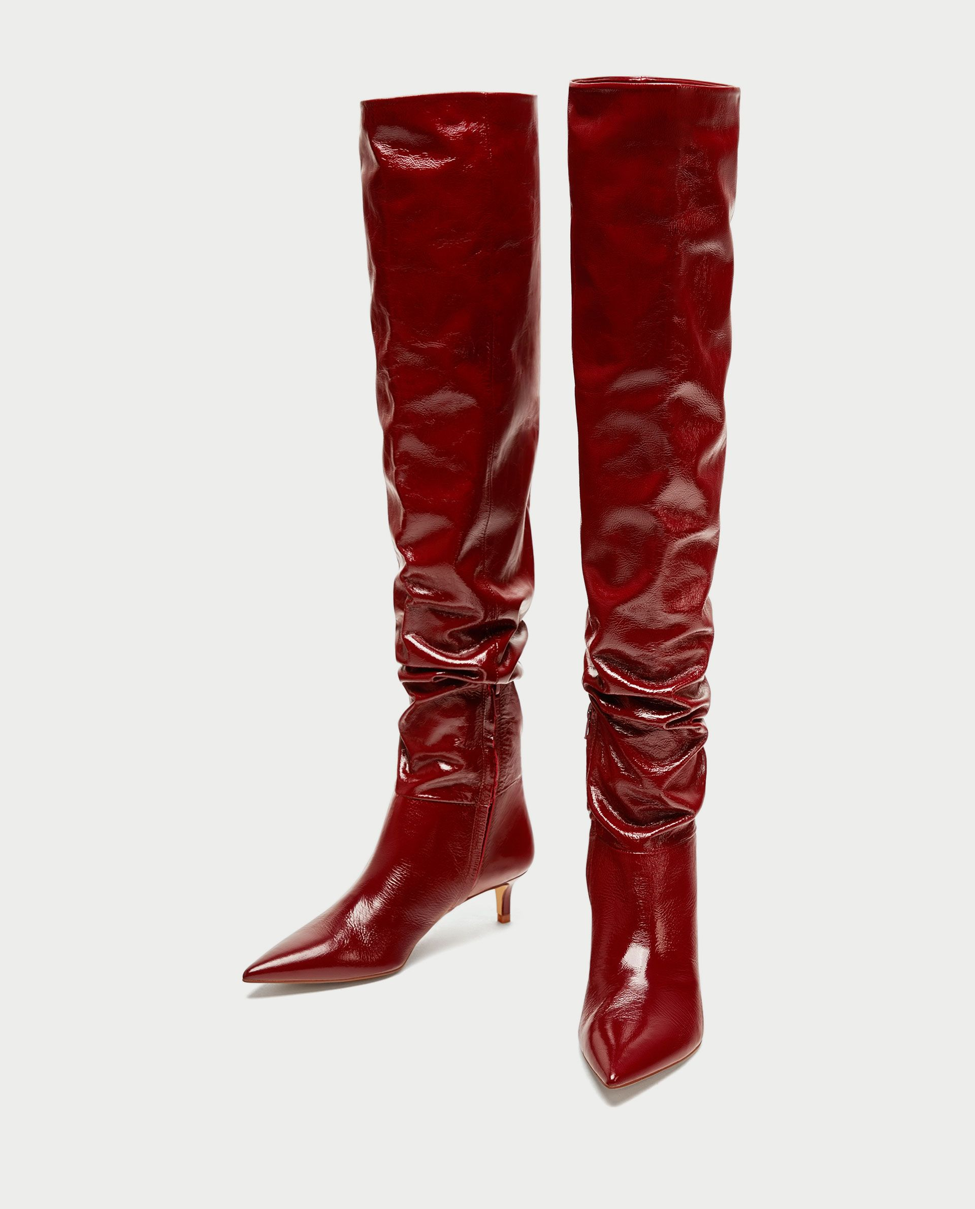 Zara GATHERED LEATHER OVER THE KNEE HIGH HEEL BOOTS 2018 For Sale Buy Cheap Largest Supplier Discount Aaa Many Kinds Of For Sale bzAJsO9EM0