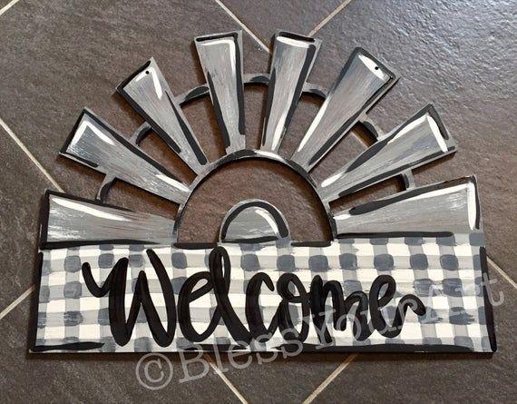 Photo of Windmill Welcome Door Hanger