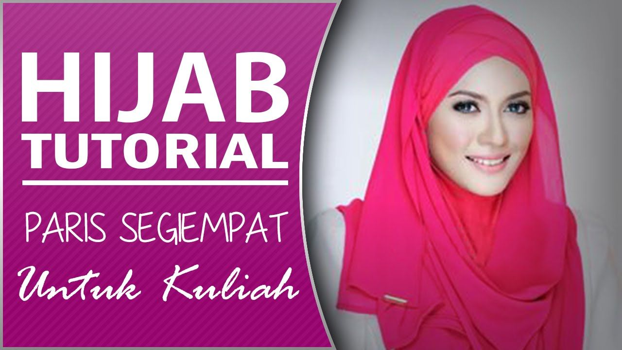 Tutorial Hijab Paris Segi Empat Untuk Ke Kampus Simple Hijab