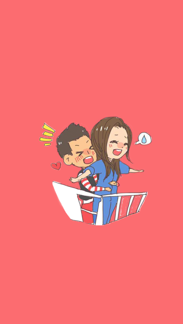 Korean Love couple Wallpaper : Titanic - Korean cartoon Running Man iPhone wallpaper @mobile9 Love & Valentines Pinterest ...
