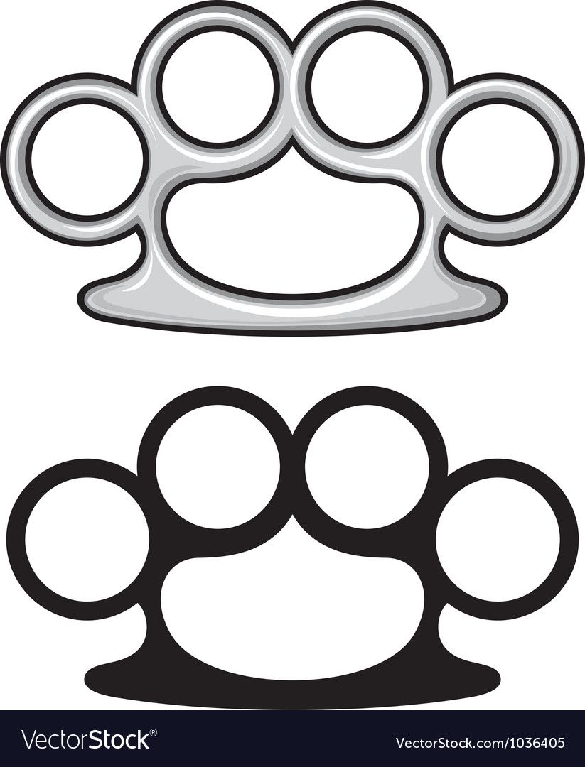 Brass Knuckles Royalty Free Vector Image Vectorstock Affiliate Royalty Knuckles Brass Free Ad Vector Free Free Vector Images Vector