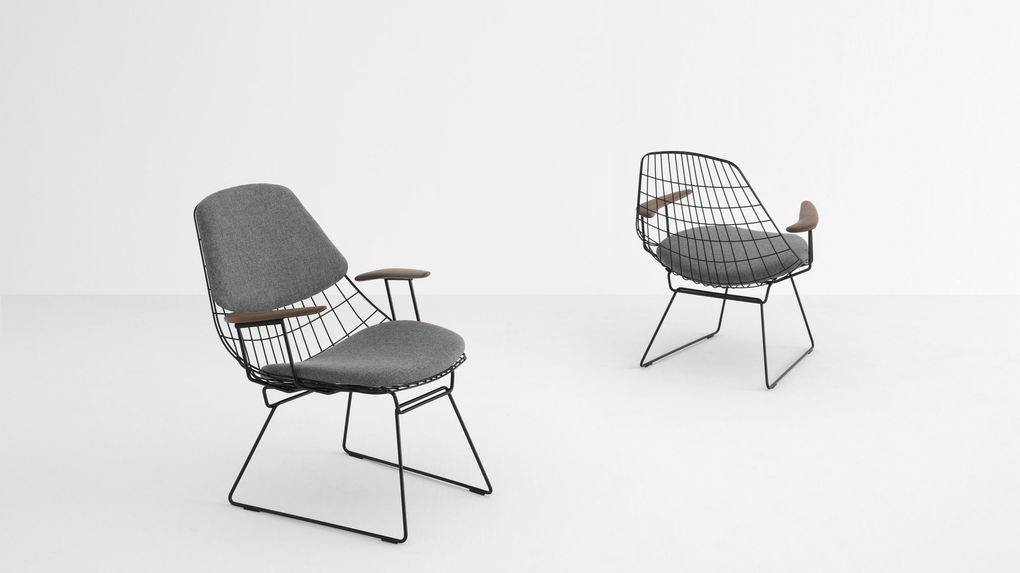 Pastoe Wire Lounge Chair - http://DesireThis.com/2990 - Go Dutch with the Pastoe Wire Lounge Chair! Last year Pastoe reintroduced the classic lounge chair designed by Cees Braakman in 1958, together with A. Dekker. Available in two editions: the FM06 and FM05 The lounge chair is part of a family of seating elements made of steel wire. The Wire Lounge Chairs minimalist design complements an extensive range of interiors in terms of style and size. The chair will be available in