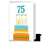 75th Birthday Printable Milestone Birthday Cards In 2021 Birthday Printables Printable Cards Birthday Cards