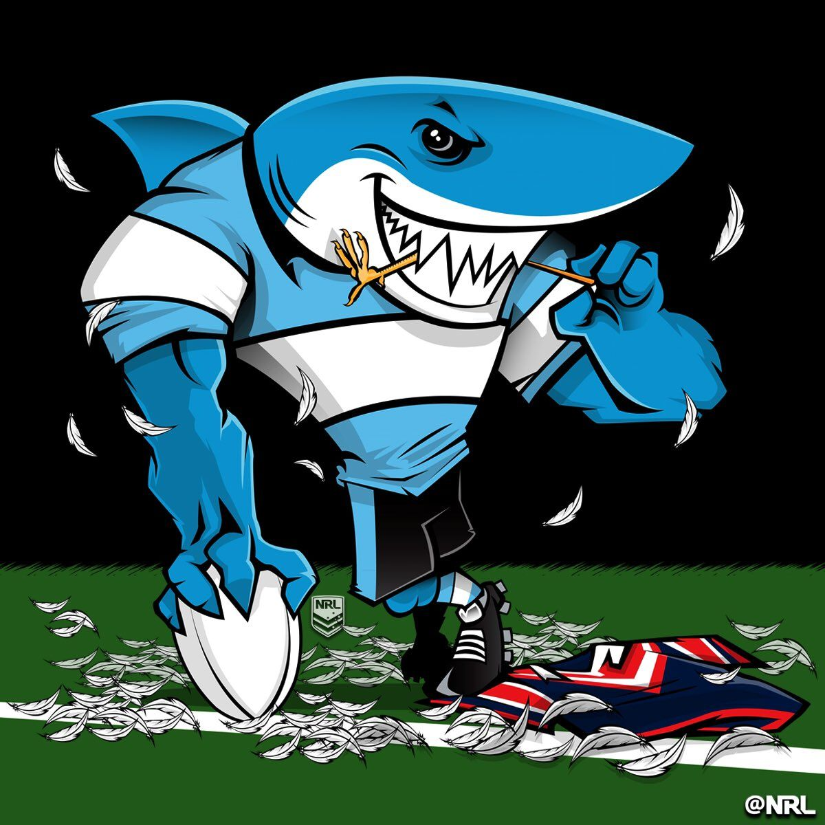 Old Rugby Player Jokes: Shark, Rugby League Et Rugby