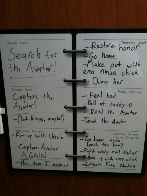 neilnevins:    My dry erase weekly planner. With a twist