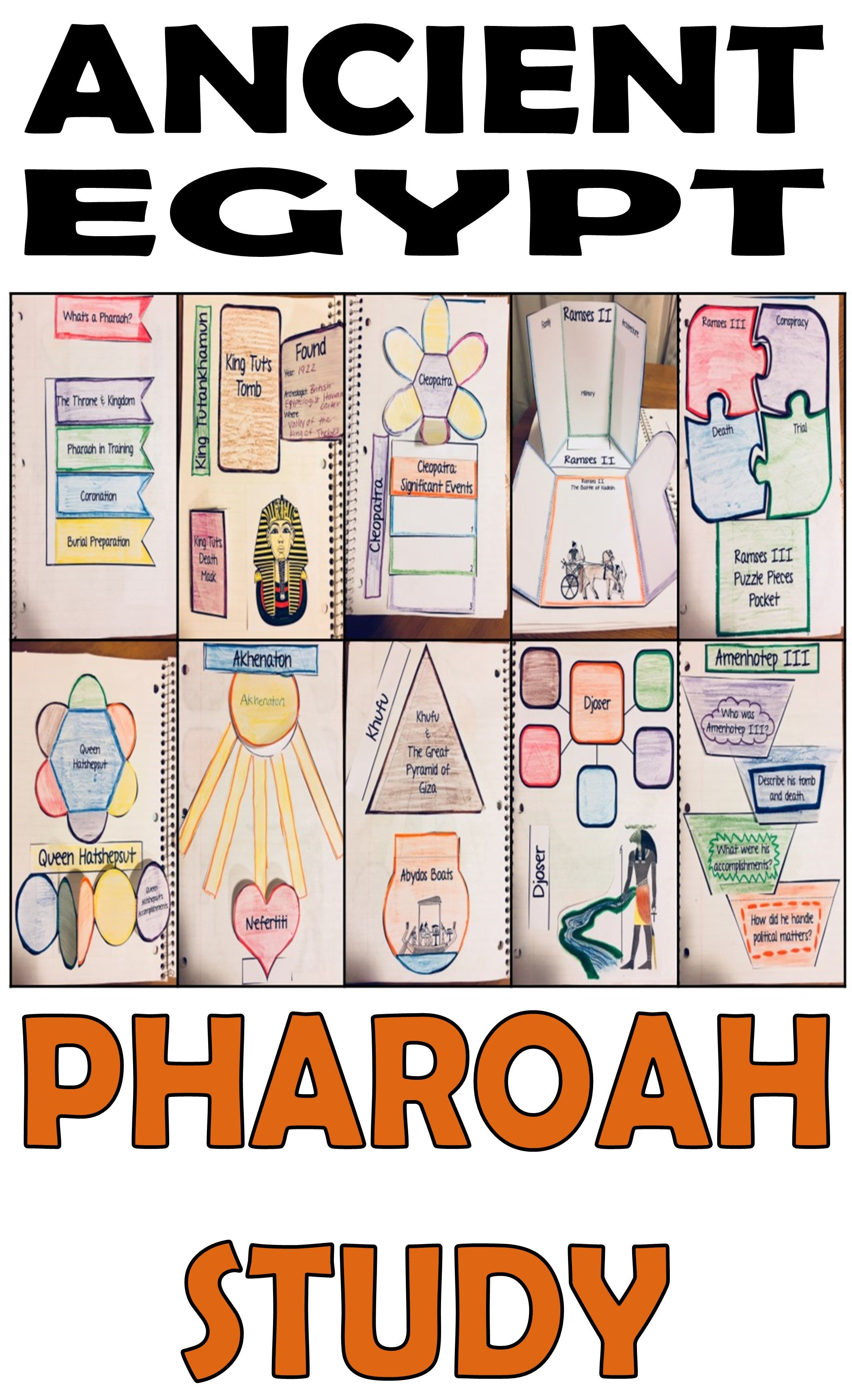 Ancient Egypt Pharaohs And Queens Study