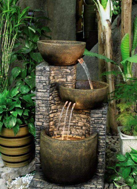 Terraza en casa fuente de agua huertaencasa fountains - Fuentes para terraza ...