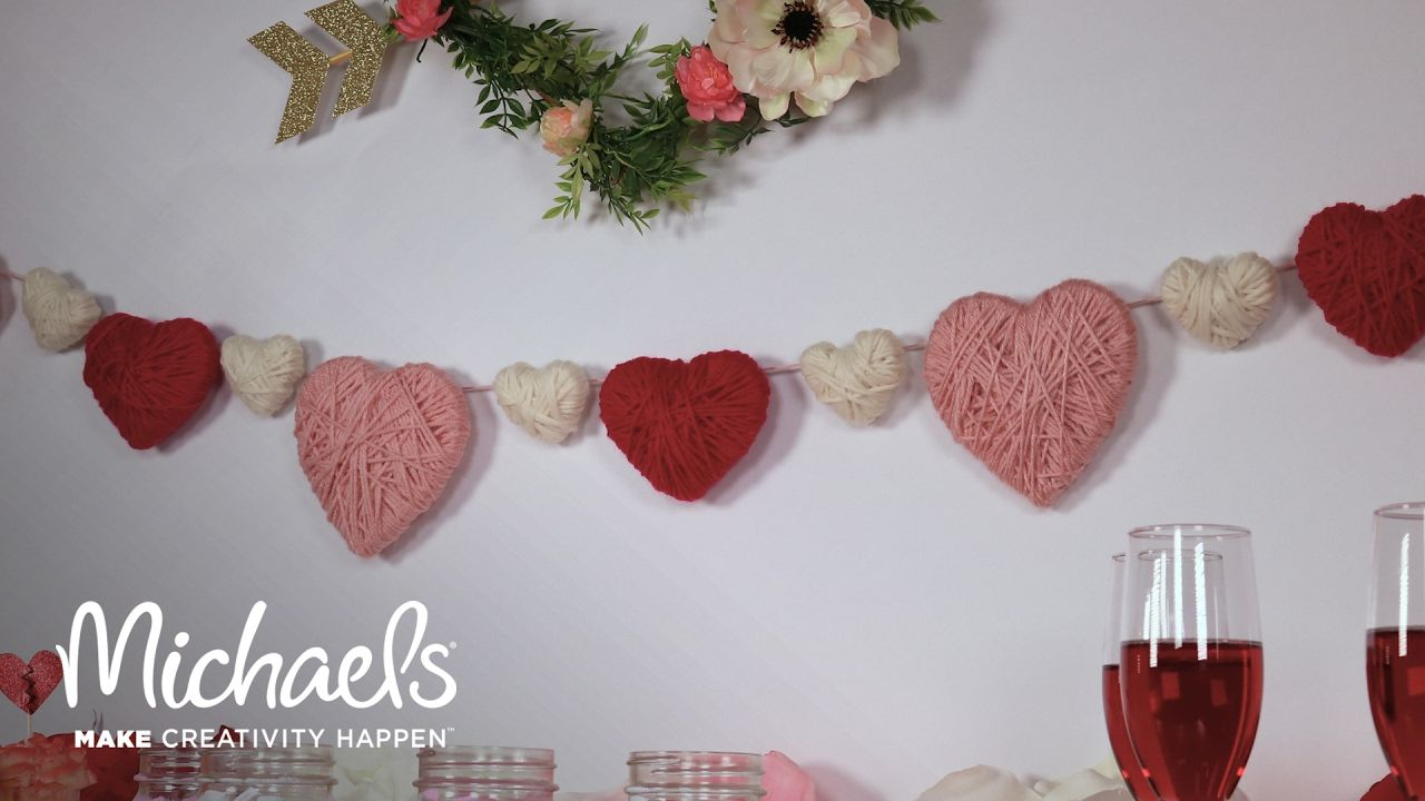 DIY Heart Garland Michaels YouTube