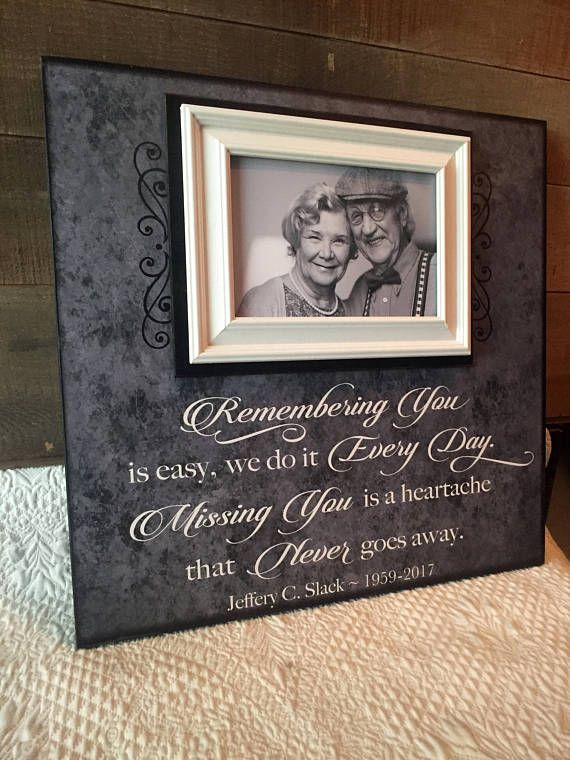 In Memory Frame Lost Loved One Photo Memorial