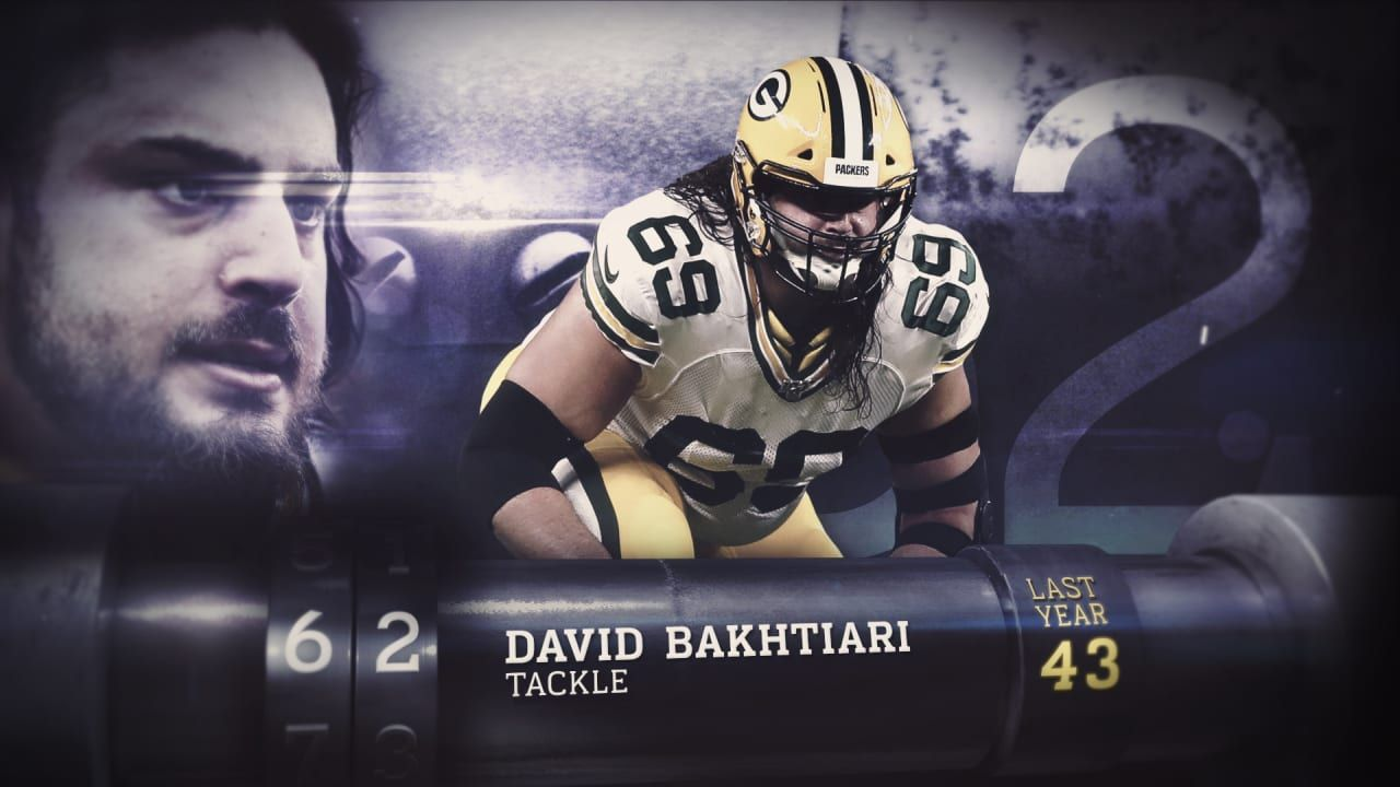 Top 100 Players Of 2020 David Bakhtiari No 62 Nfl News In 2020 Nfl News Nfl Season Tackle