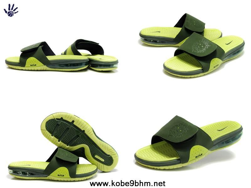 buy online d73fc 42fce 2013 New Nike Air Lebron Slides Lime Green Jade 487332 300 Basketball Shoes  Store