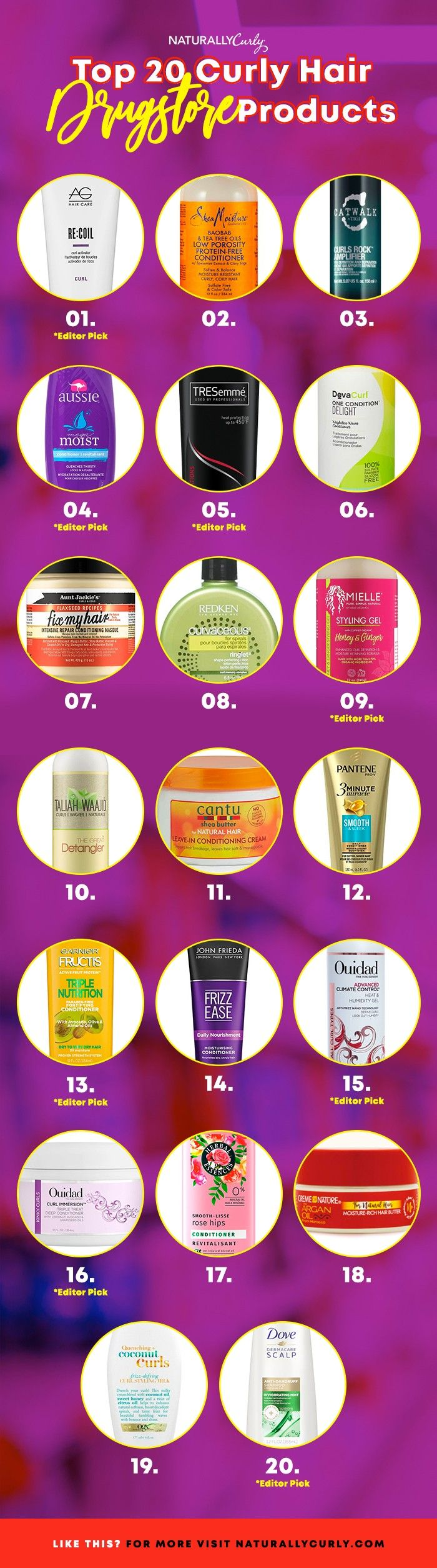 The 20 Best Curly Hair Drugstore Products (With images ...