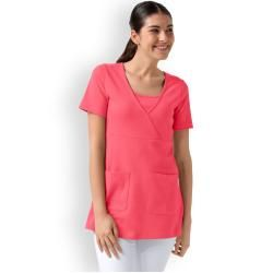 Photo of Longshirt für Damen 2 Taschen in lipstick, Clinic Dress