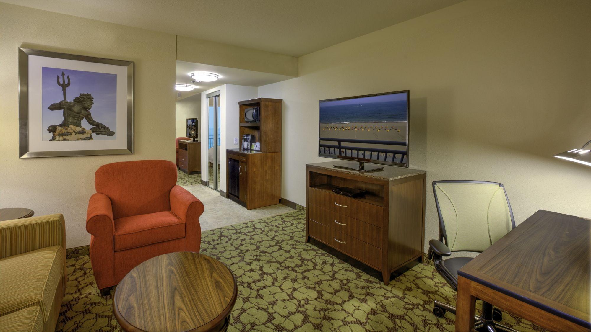 Oceanfront suite at the Hilton Garden Inn Virginia Beach Oceanfront ...