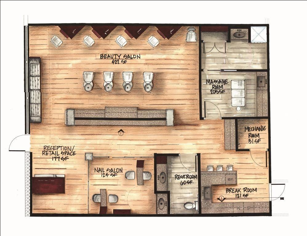 Day spa floor plan design gurus floor for A better day salon