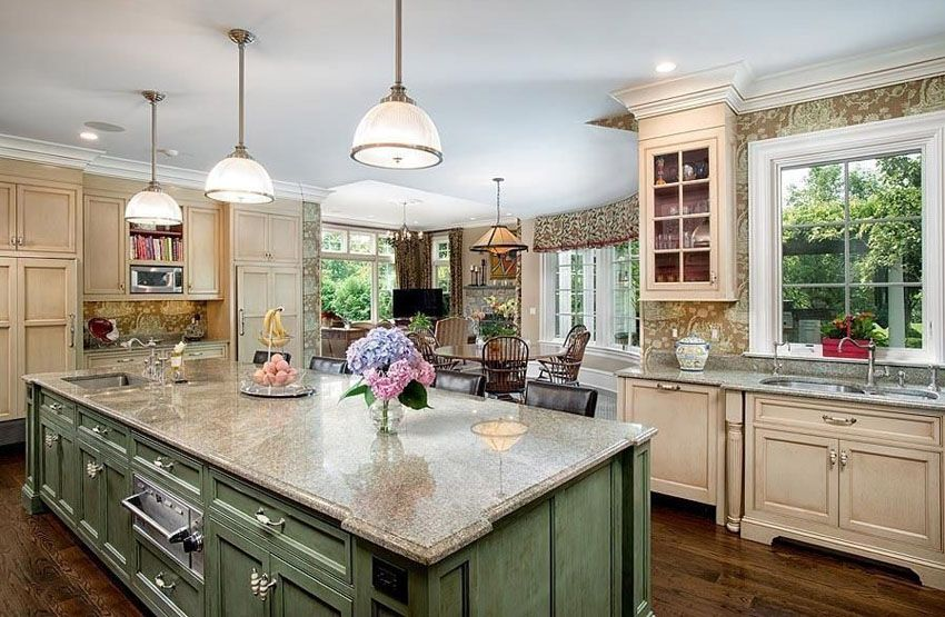 26 farmhouse kitchen ideas decor design pictures country kitchen cabinets blue country on farmhouse kitchen wall colors id=57032