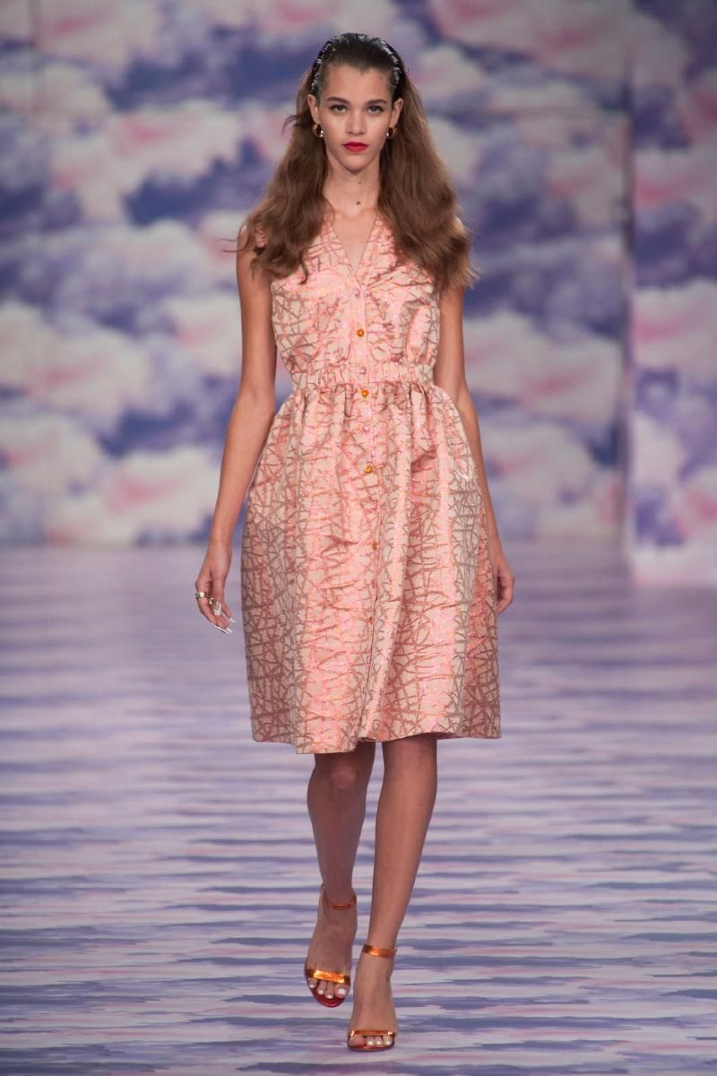 House of Holland look 23 Spring Summer 2014 #lfw  (this doesn't look like much but I think it will wear well. Has some structure without the constriction)