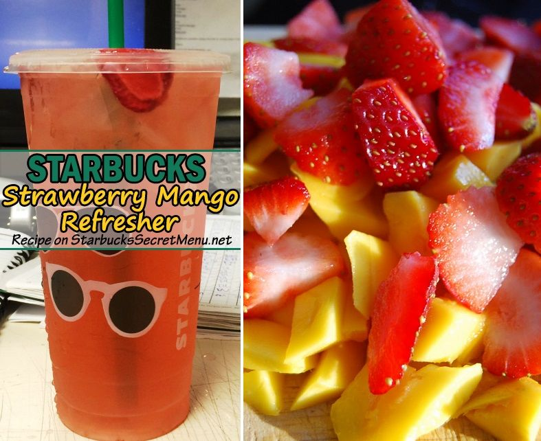 Strawberry Mango Refresher | Starbucks Secret Menu