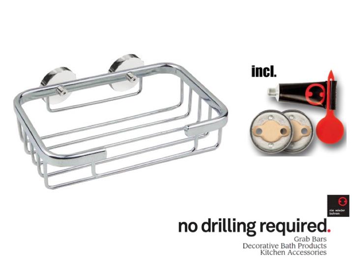 100% Rustproof No Drill Shower Caddies, Bath Accessories By Nie Wieder  Bohren Germany
